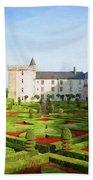 Chateau De Villandry, Loire, France Beach Towel