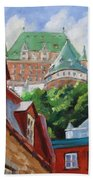 Chateau Frontenac Beach Towel