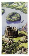Chateau Gaillard, Also Known As The New Castle Of The Rock  Beach Towel