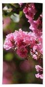 Chateau Rose Pink Flowering Crepe Myrtle  Beach Towel