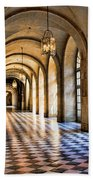Chateau Versailles Interior Hallway Architecture  Beach Towel