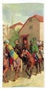 Chaucer's Pilgrims Beach Sheet