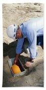 Checking Seismometer Beach Towel
