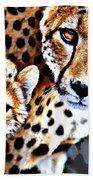 Cheetah Family Beach Sheet