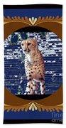 Cheetah Lean And Mean Beach Towel
