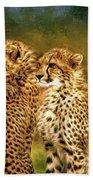 Cheetah Siblings Beach Towel