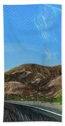 Chem Trails Valley Of Fire  Beach Towel