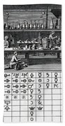 Chemical Lab With Proto-periodic Table Beach Towel