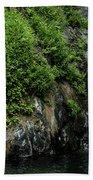 Chemisal Falls At Vichy Springs In Ukiah In Mendocino County, California Beach Towel
