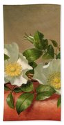 Cherokee Roses Beach Towel by Martin Johnson Heade