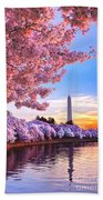 Cherry Blossom Festival  Beach Sheet