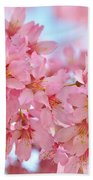 Cherry Blossom Pastel Beach Towel