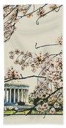 Cherry Blossom Tidalbasin View Beach Towel