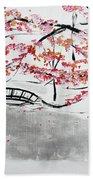 Cherry Blossoms And Bridge II Meadowlark Botanic Gardens 201729  Beach Towel