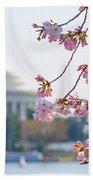 Cherry Blossoms And Jefferson Memorial Beach Towel