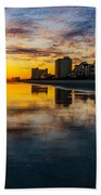 Cherry Grove Beach Front Sunset Beach Towel