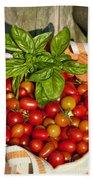 Cherry Tomato Harvest Beach Sheet