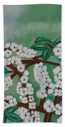 Cherry Tree Rich In Flowers Beach Towel