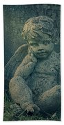 Cherub Lost In Thoughts Beach Towel