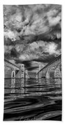 Chesapeake Bay Bw Beach Towel