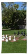 Chess At The Biltmore Beach Towel