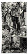 Chess Player Beach Towel