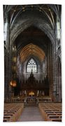 Chester Cathedral England Uk Inside The Nave Beach Towel