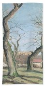 Chestnut Trees At Louveciennes Beach Towel by Camille Pissarro