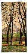 Chestnut Trees At The Jas De Bouffan Beach Towel by Paul Cezanne