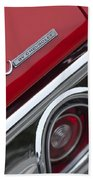 Chevrolet Chevelle Ss Taillight Emblem 2 Beach Towel