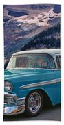 Chevy At Lake Louise Beach Towel