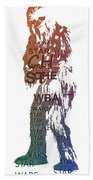 Chewbacca Typography Beach Towel