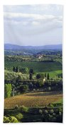 Chianti Region In Italy Beach Towel by Gregory Ochocki and Photo Researchers