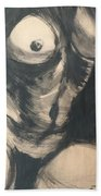 Chiaroscuro Torso - Female Nude Beach Towel