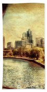 Chicago Approaching The City In June Textured Beach Towel