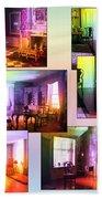 Chicago Art Institute Miniature Rooms Prismatic Collage Beach Towel