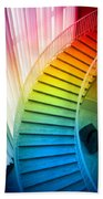 Chicago Art Institute Staircase Pa Prismatic Vertical 02 Beach Towel