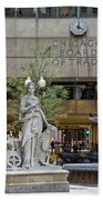 Chicago Board Of Trade Signage Beach Towel