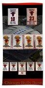 Chicago Bulls Banners Collage Beach Sheet