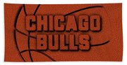 Chicago Bulls Leather Art Beach Towel