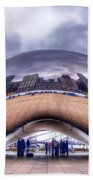 Chicago Cloud Gate Beach Towel
