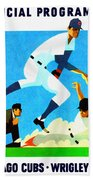 Chicago Cubs 1970 Program Beach Towel