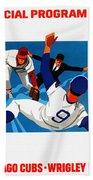 Chicago Cubs 1974 Program Beach Towel