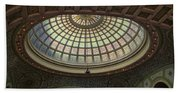 Chicago Cultural Center Tiffany Dome 01 Beach Towel
