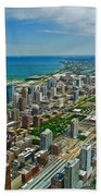 Chicago East View Beach Towel