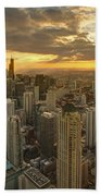 Chicago Evenings 2 Beach Towel