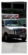 Chicago Fire Department Ems Ambulance 35 Beach Towel
