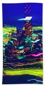 Chicago Gold Coast Abstract Beach Towel