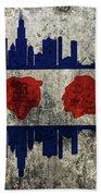 Chicago Grunge Flag Beach Towel