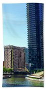 Chicago Heading Up The North River Branch Beach Towel